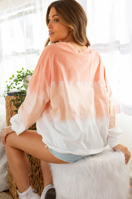 Springtime Sunset Top - Off White/Peach