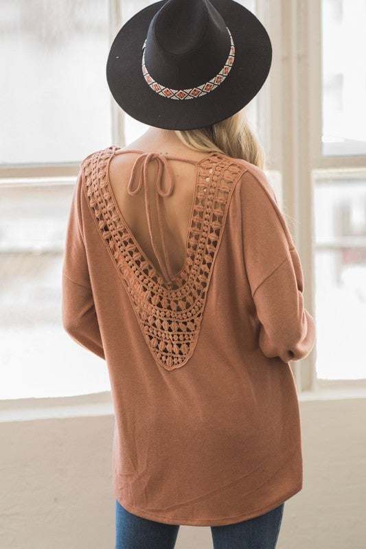 All Is Serene Crochet Back Top