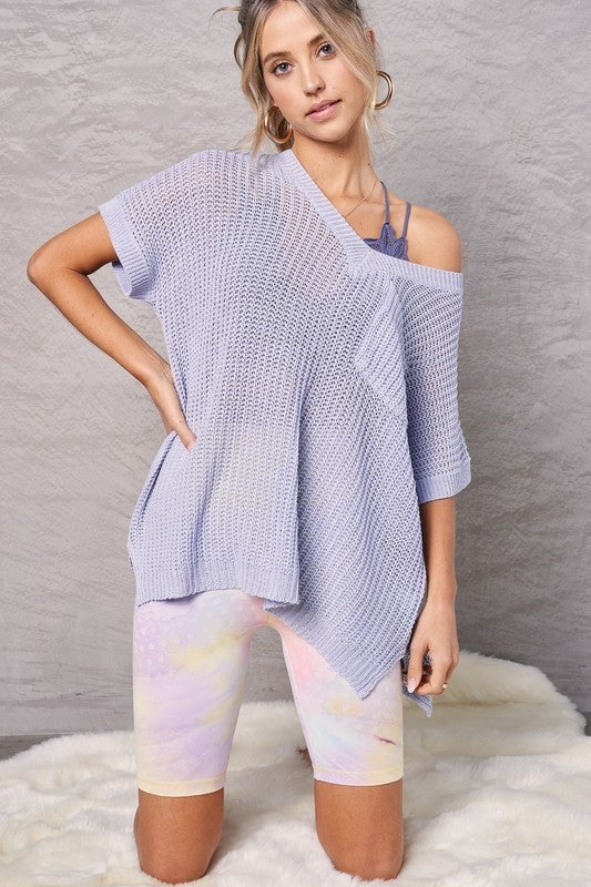 Anything Goes Sweater - Blue