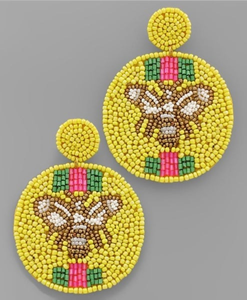 Sweet As Can Bee Earrings - Yellow