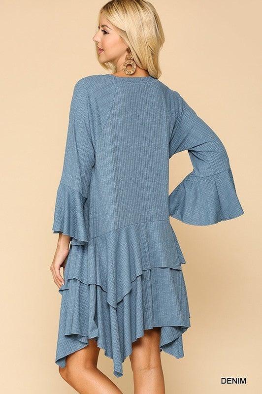 Sensational Solids Dress - Denim