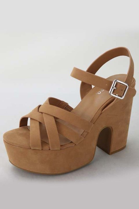 Strappy Sandals - Camel