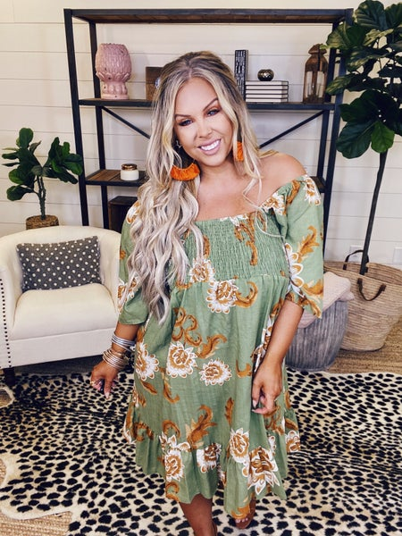 In The Know Tunic Dress-Sage