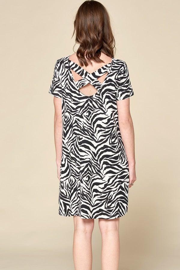 Safari Time Dress - Off White/Black