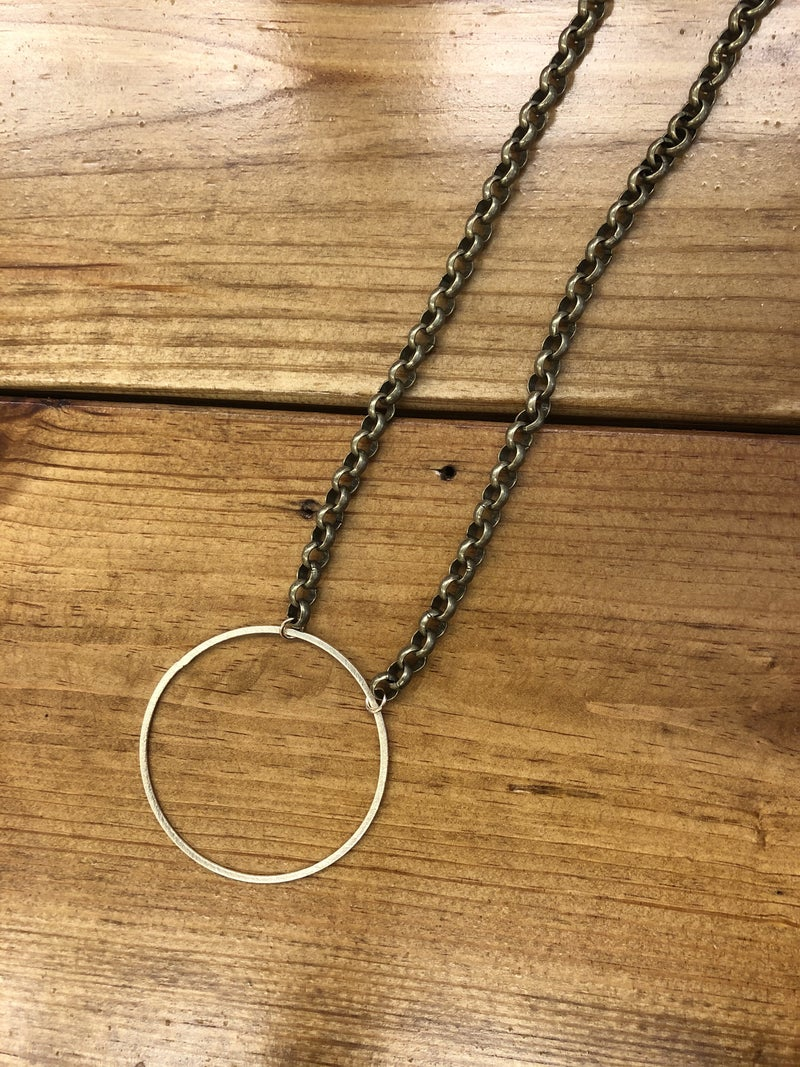 Love, Poppy X-Large Hoop Necklace