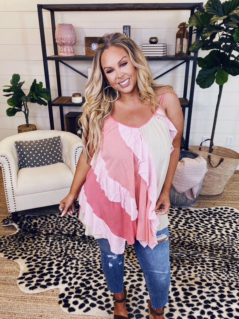 She's All In Tunic Top - Blush