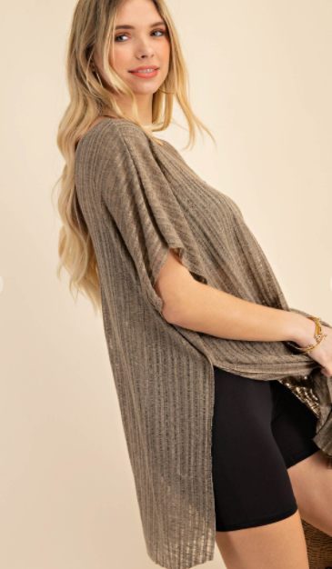 PLUS/REG Natural Beauty Woven Top - Olive