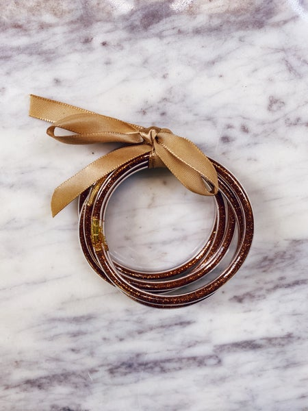 All Weather Bangles - Rust (Set of 5)