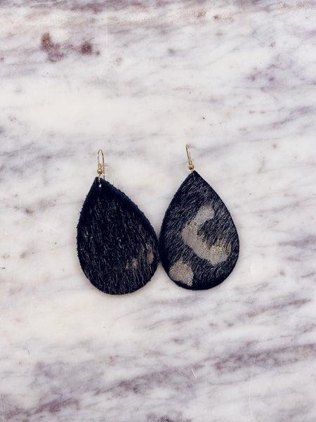 Love, Poppy Leather Teardrop Earrings