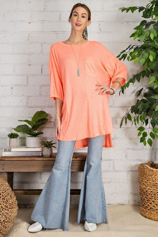 Standing Out Tunic - Coral