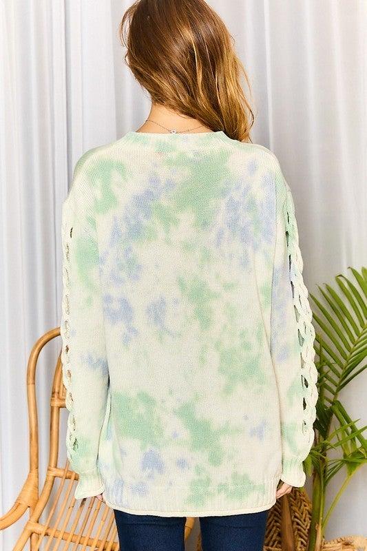 Beautiful Sky Sweater - Dusty Blue Multi