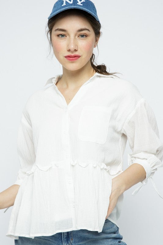 Time To Be Brave Top - White