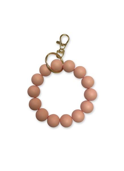 Keep Them Looking Key Ring Bracelet - Peach