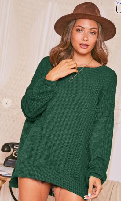 All Shook Up Sweatshirt - Hunter Green