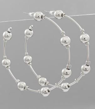 Bliss Hoop Earrings-Rhodium