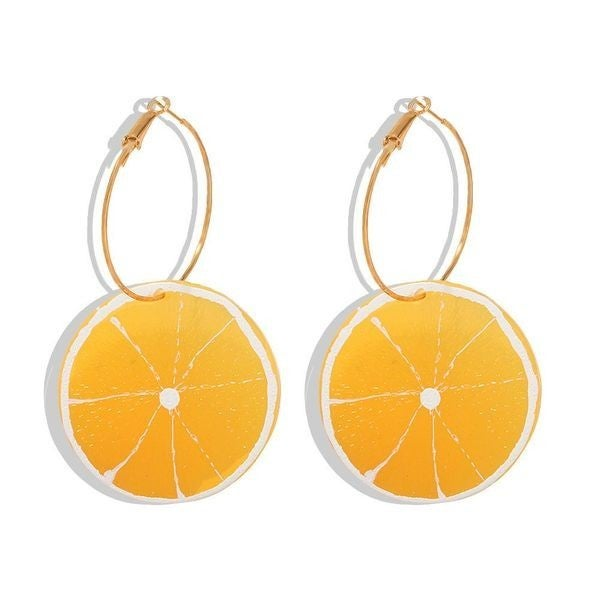 Fresh Squeeze Earrings - Lemon