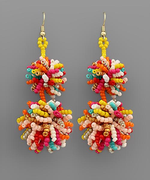 Beautiful In Bead Earrings - Multi