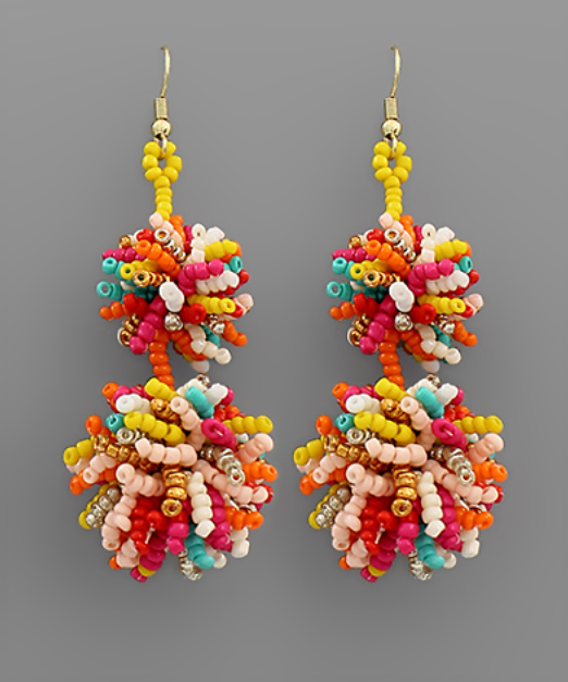 Beautiful In Bead Earrings - Multi