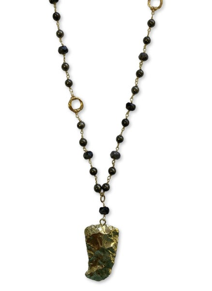 Love, Poppy Rosary + Pendant Necklace - Large