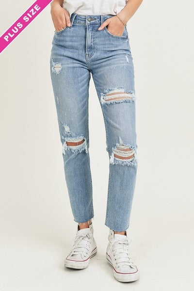 Bring Back Distressed Relaxed Skinny Jeans