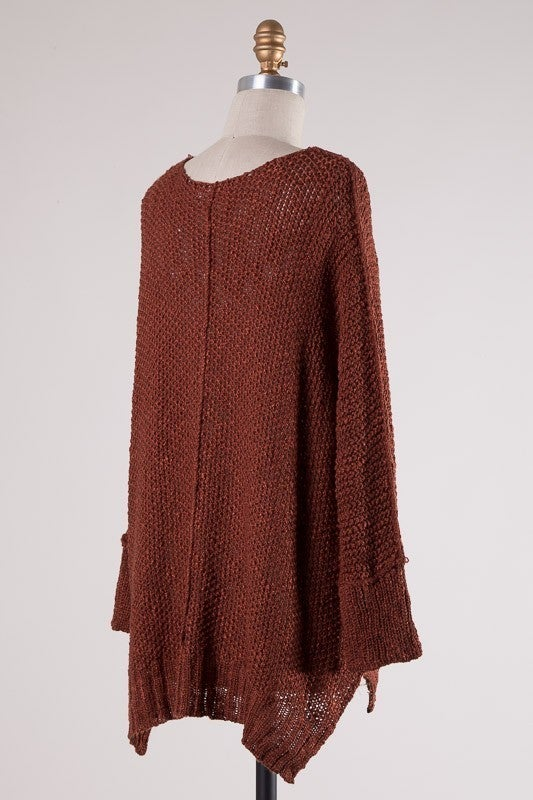All Warmed Up Sweater - Rust