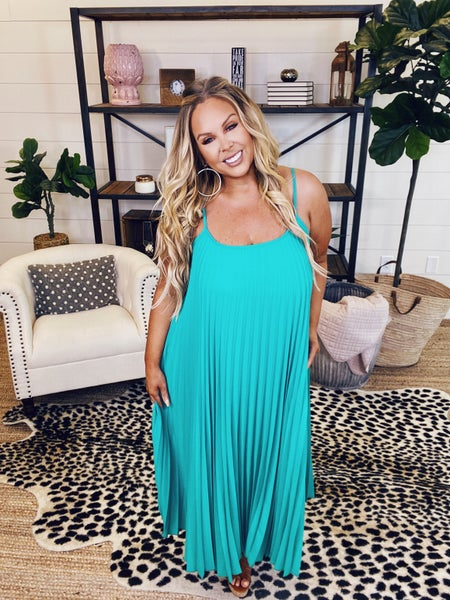 Learn To Live Cami Dress - Green