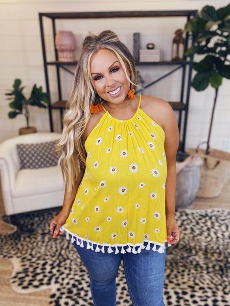 Doting Dots Tunic Top - Yellow