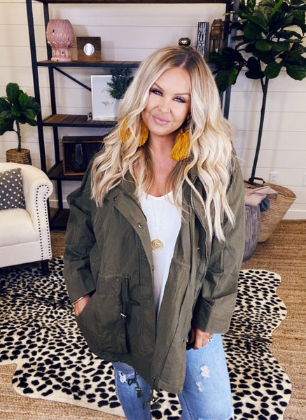 Weather The Storm Hooded Jacket - Faded Olive