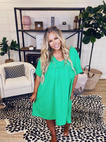 Love Yourself Dress - Green