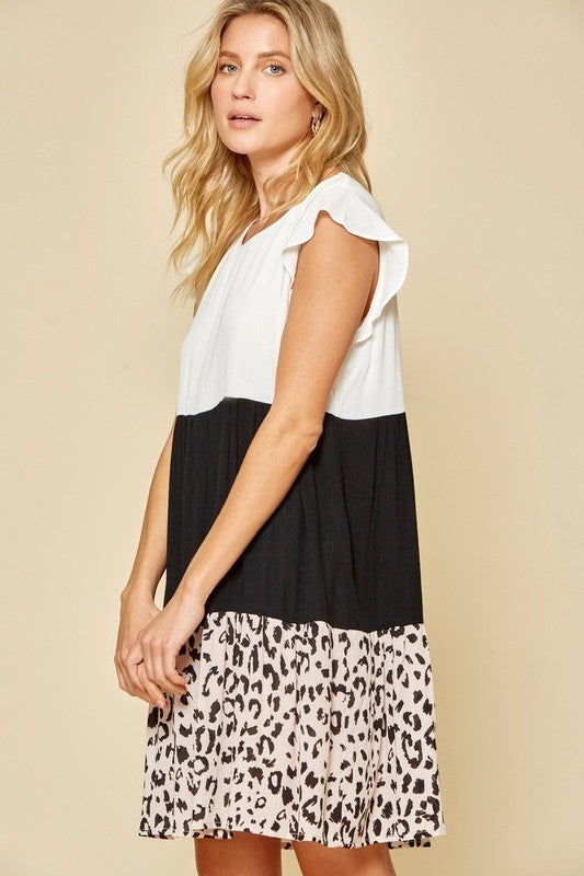 PLUS/REG Here For The Party Dress - Leopard