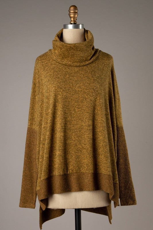 Lazy Day Reading Sweater - Mustard