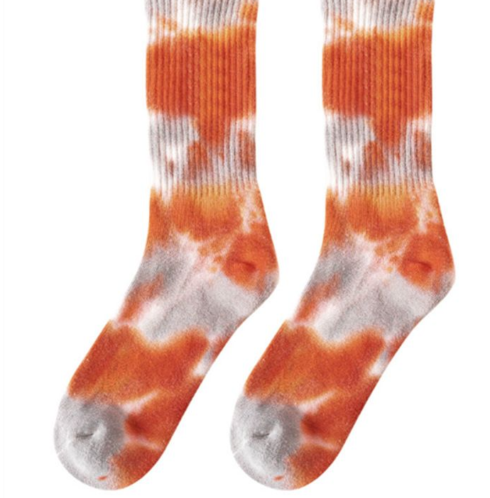 Tie Dying For Comfort Socks - Red