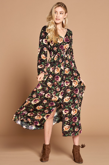 Fantastic Fall Floral Dress