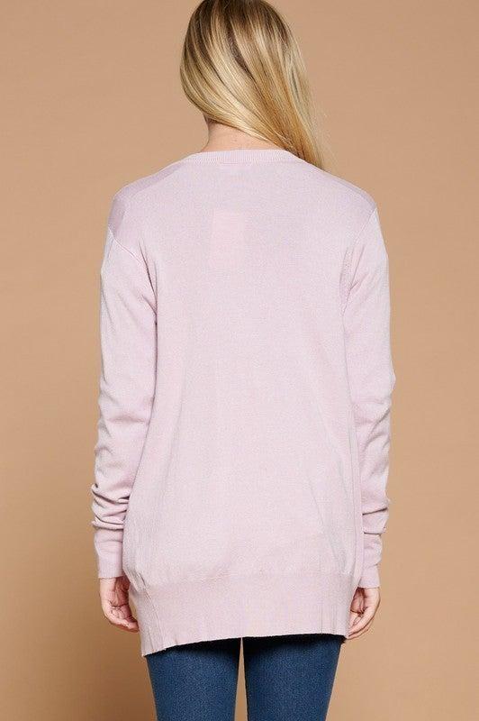 Reg/Plus Going Places Knit Cardigan - Pale Mauve