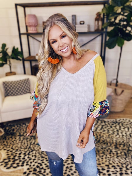 Be Bold Be Brave Top - Mustard