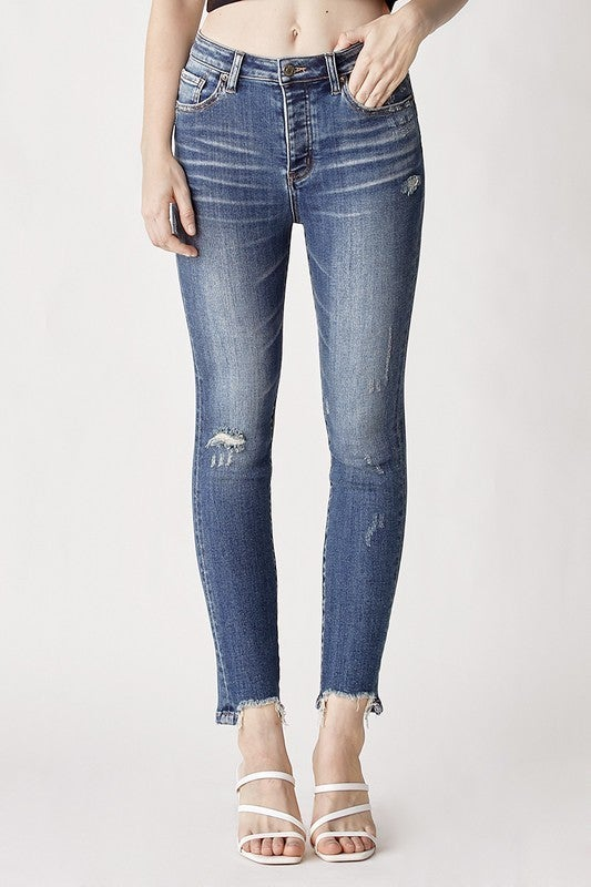 Step Aside High Rise Skinny Jeans
