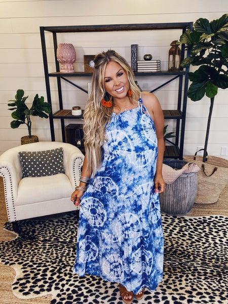 Summer Fun Maxi Dress - Blue