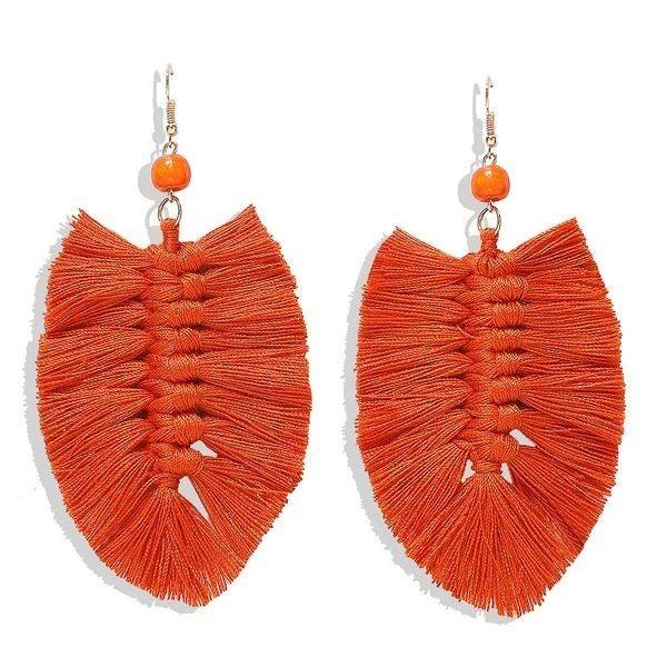 Your Biggest Fan Earrings - Orange