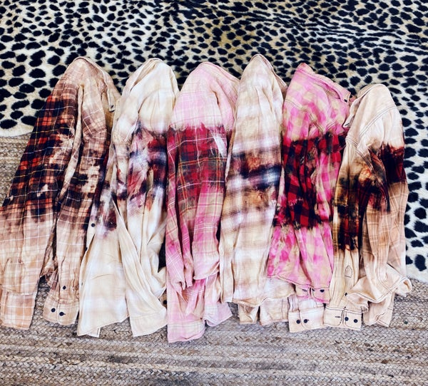 Bleached out flannels (GRAB BAG STYLE ONLY)