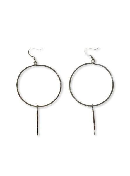 Love, Poppy Hoop + Spike Earrings - Silver