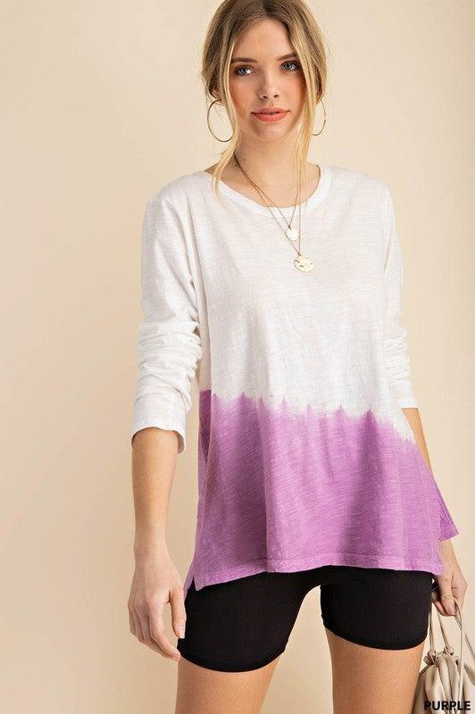 It's Amazing Dip Dye Top-Purple