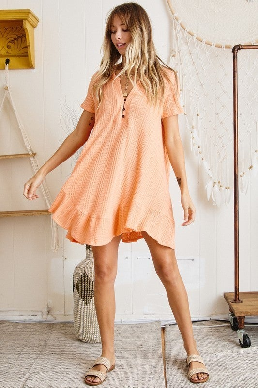 Dream Inspired Tunic Dress - Orange