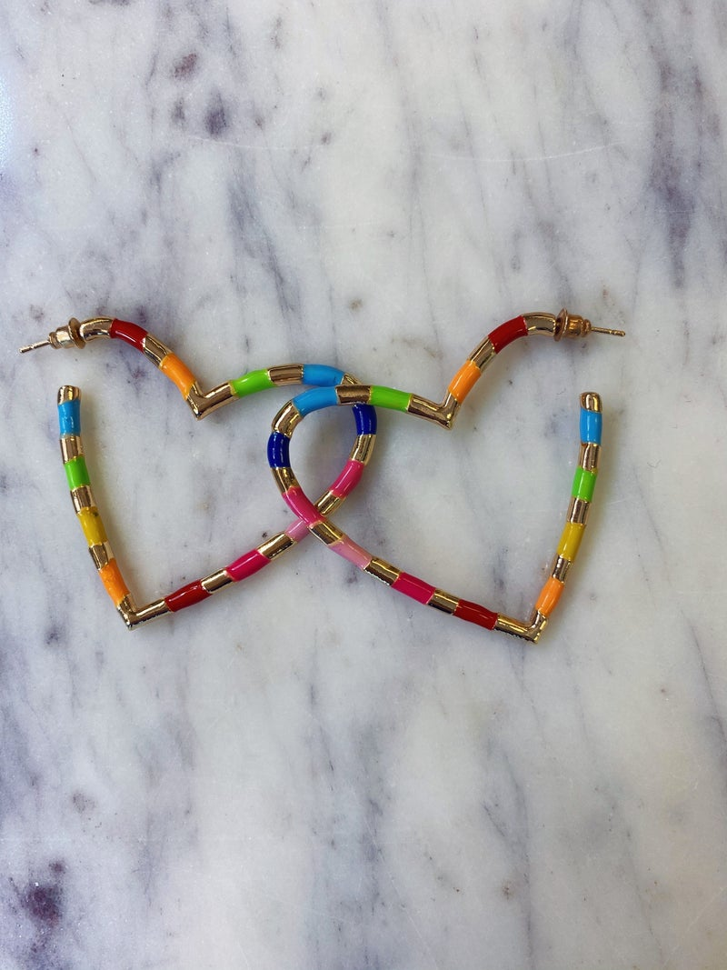 Striped With Love Earrings