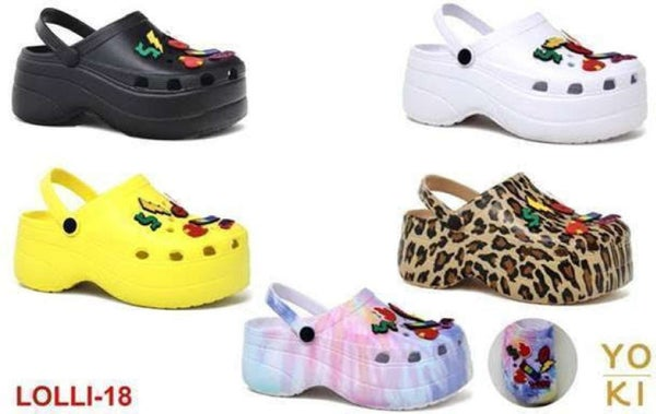 Leopard Lolli Platform Slippers (Size Up 1 Size)