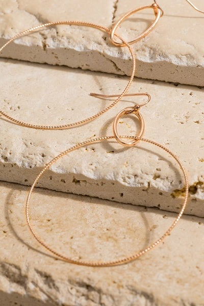 Hoopily In Love Earrings - Rose