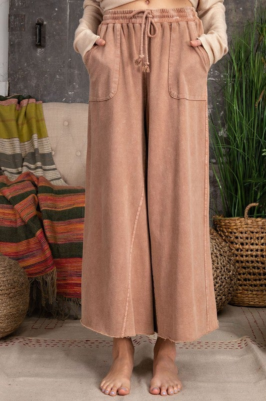 Missed Call Pants - Red Bean