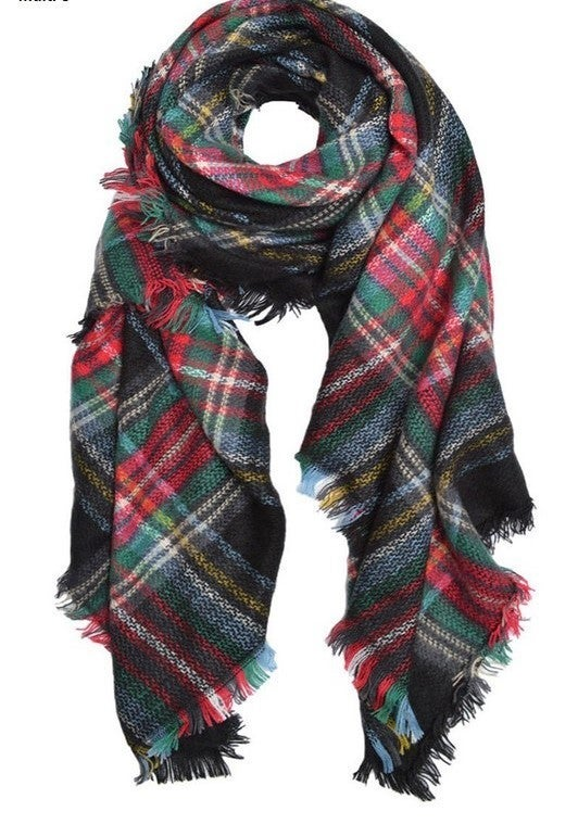By The Fire Scarf - Red
