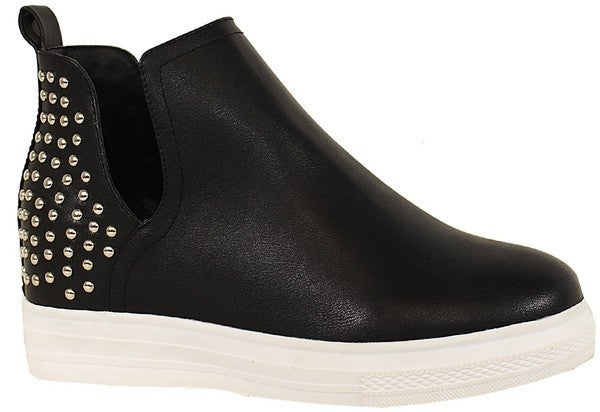 Strut & Shine Heeled Sneakers - Black