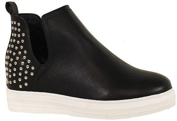 Strut & Shine Heeled Sneakers - Black