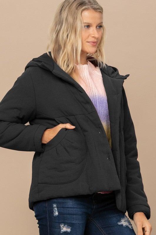 Reg/Plus Warm Me Up Jacket - Black